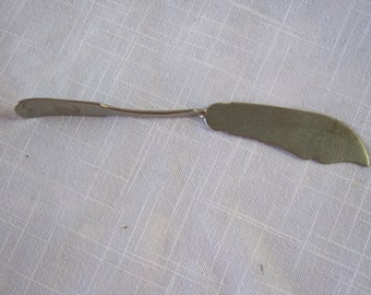 Brazil Silver Twisted Handle Butter Knife