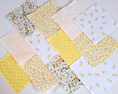 30 x MELLOW YELLOW 5 inch Fabric Patchwork Squares Pieces Charm Pack