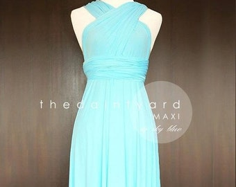 7d2d07c83ab SAMPLE SALE - Last 2 piece! Maxi infinity convertible Bridesmaid dress in Sky  blue Regular size