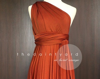 Burnt Orange Color Dresses