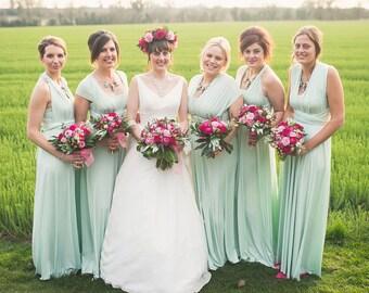 8b4a76b05b93d TDY Mint Maxi Bridesmaid Dress Convertible Dress Infinity Dress Multiway  Wrap Dress Wedding Prom Dress Long Ball Gown (Regular & Plus Size)