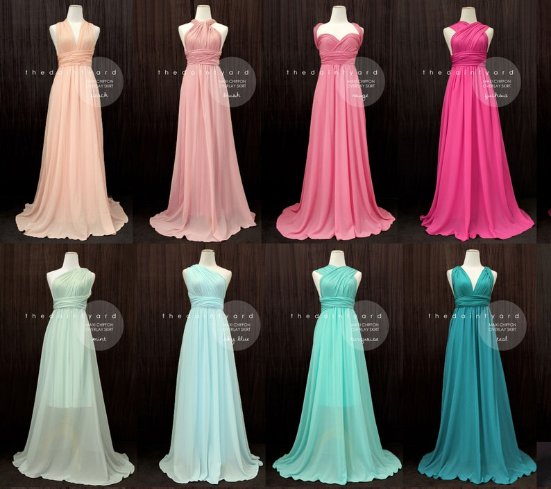 ef74b65dc48 TDY Bridesmaid Maxi infinity dress   Multiway Dress   Long