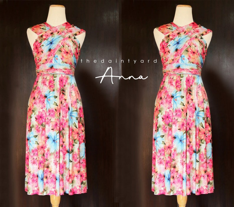 356144c2d59 TDY Anna Floral Infinity Dress Convertible Dress Multiway