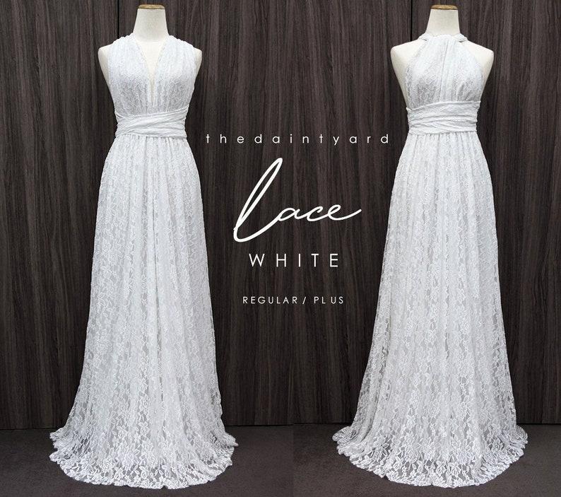 89a4731028b0d TDY LACE Maxi Bridesmaid infinity dress Convertible dress | Etsy