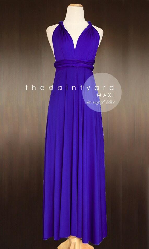 MAXI Royal Blue Bridesmaid Dress Convertible Dress Infinity