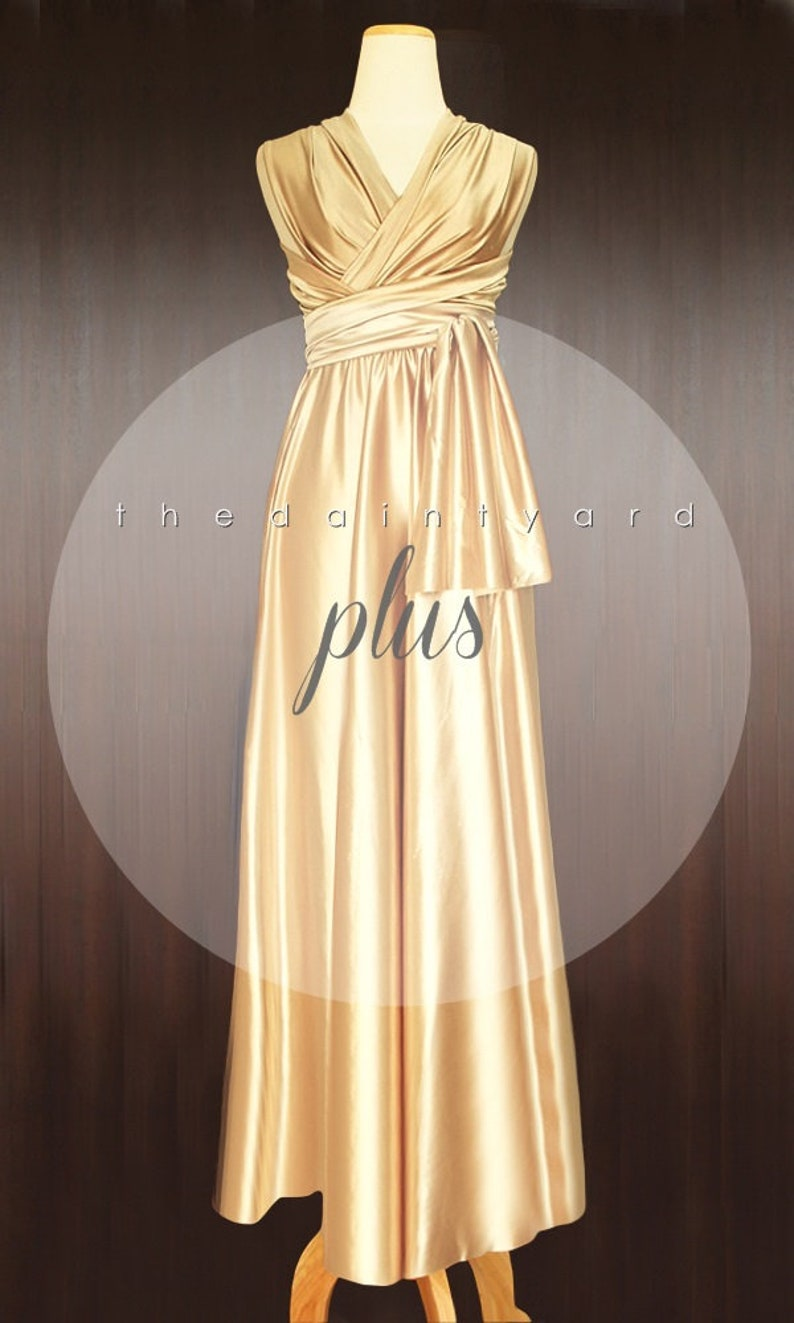 3be27eb3d5c TDY Gold Maxi Bridesmaid Dress Convertible Dress Infinity