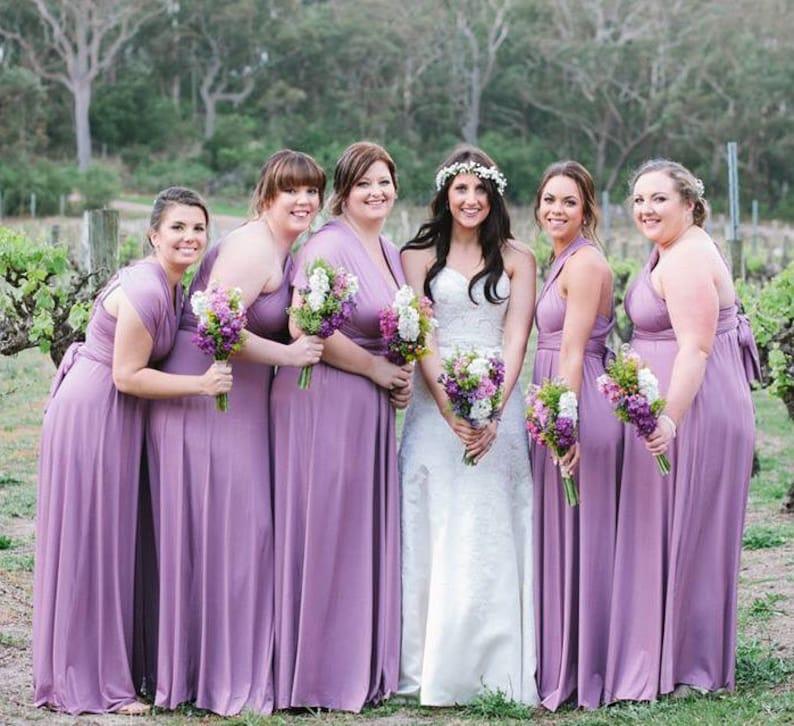 Multiway Dress Lilac Bridesmaid Prom Convertible Infinity Maxi