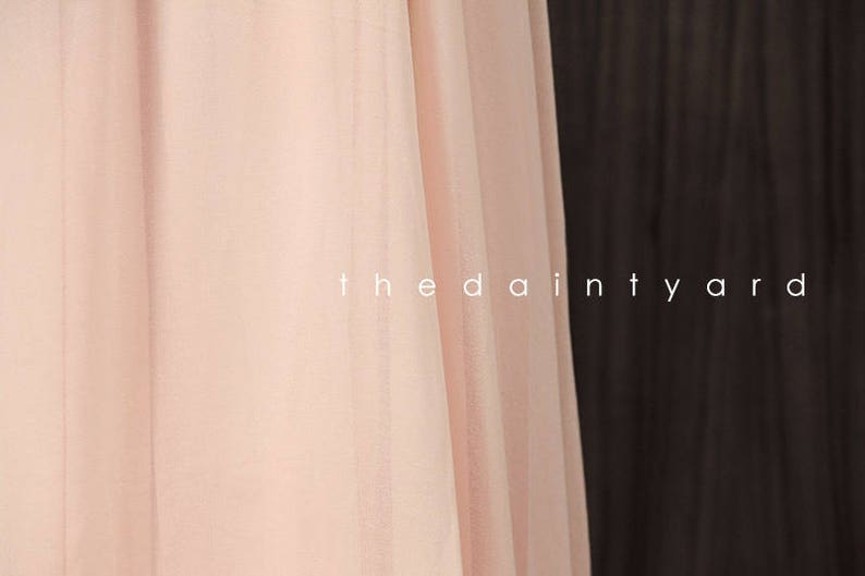 f23bf0107e5d5 TDY Nude pink Chiffon Overlay Skirt for Maxi Long Convertible | Etsy
