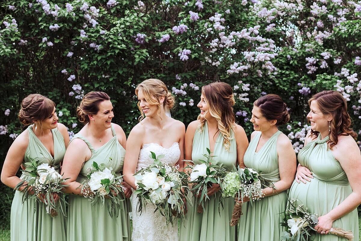 716a4519b15 Sage Green Multiway Bridesmaid Dresses Uk - Gomes Weine AG