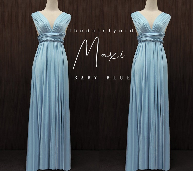 26e7444dfe4 TDY Baby Blue Maxi Bridesmaid Dress Convertible Dress Long
