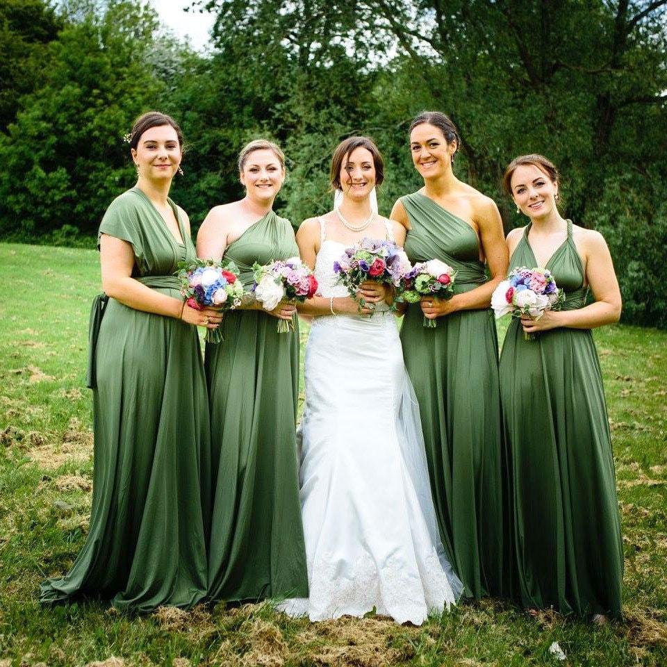Infinity Wedding Dress Larimeloom: MAXI Olive Infinity Dress Bridesmaid Dress Convertible Dress