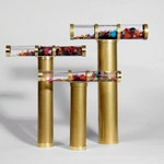 Giant Oil Kaleidoscope, Gold Brass Kaleidoscope, Gift idea