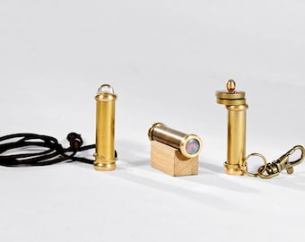Mini Teleidoscope, Traditional toys, Kaleidoscope Gift, Christmas gift, Gift ideas, Gold Teleidoscope