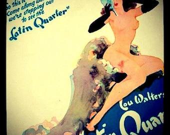 Latin Quarter Pin up Girl photo print glossy finish wall art