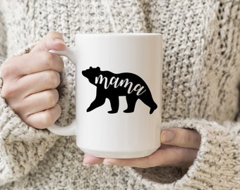 Mama Bear Vinyl Decal, Coffee, Coffee Love, Stickers, Laptops, Tablets, Water Bottles, Tumblers, Mugs, Travel Mugs, Mother's Day Gifts