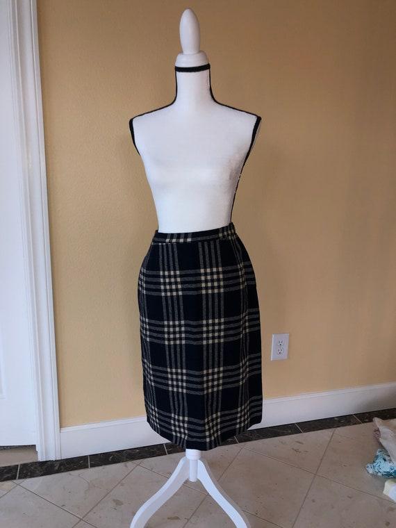 1940's Wool Plaid Skirt