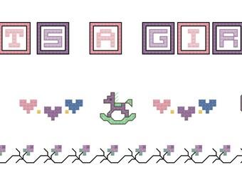 È una ragazza cross stitch pattern