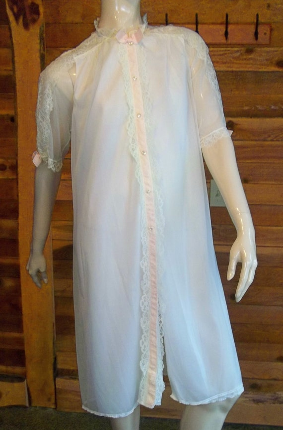 Vintage Lingerie 1950s VIRGINIA WALLACE White Chif
