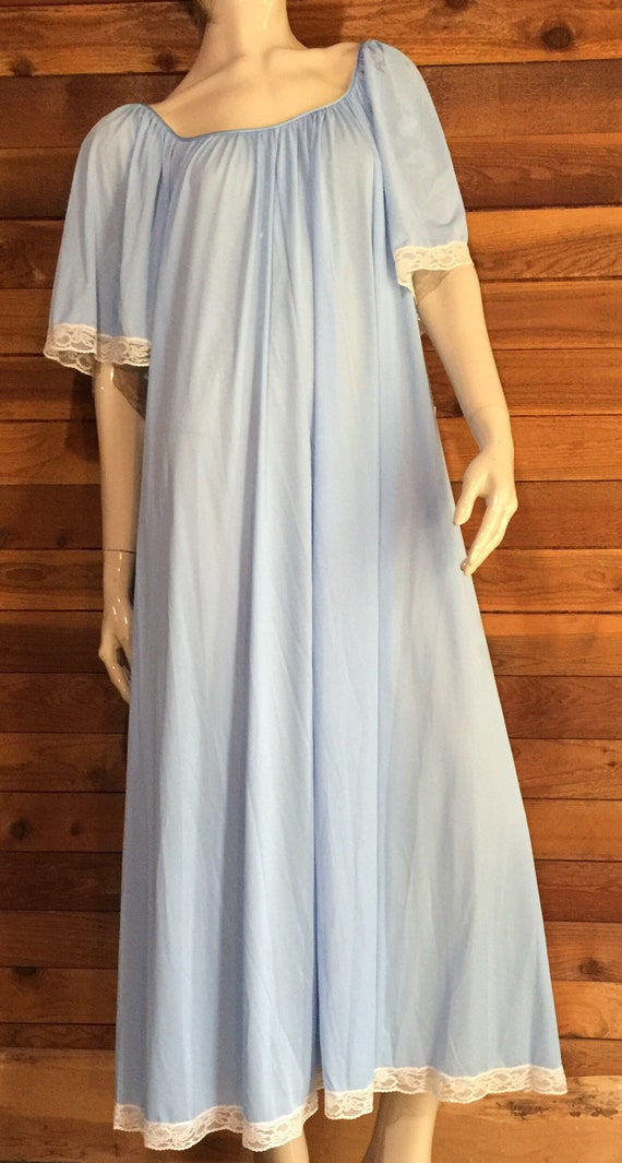 Vintage Lingerie 1970s LUCIE ANN Blue Size Medium… - image 1