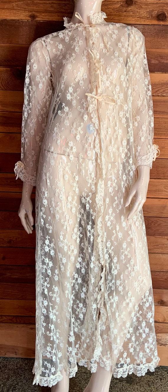Vintage Lingerie 1980s LINDA LINGERIE Ivory Lace S