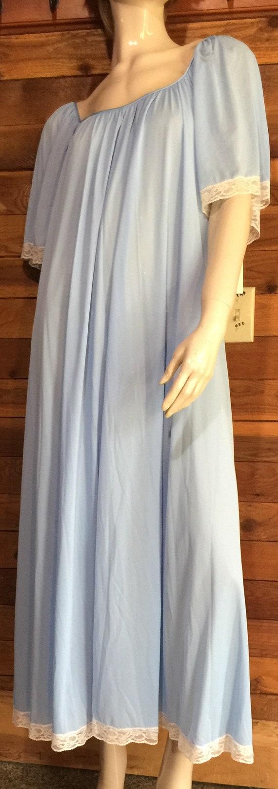 Vintage Lingerie 1970s LUCIE ANN Blue Size Medium… - image 5