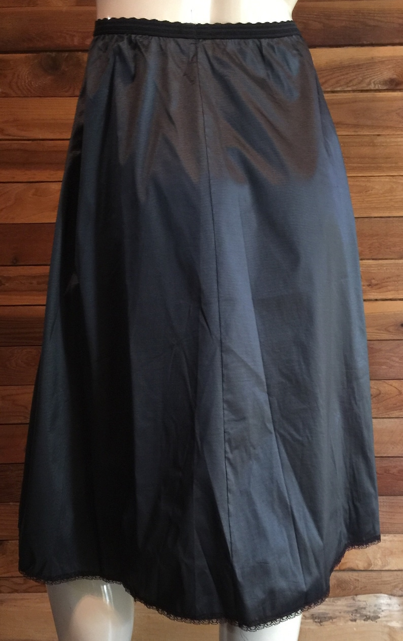 Vintage Lingerie 1960s HENSON KICKERNICK Black Size Medium Half Slip