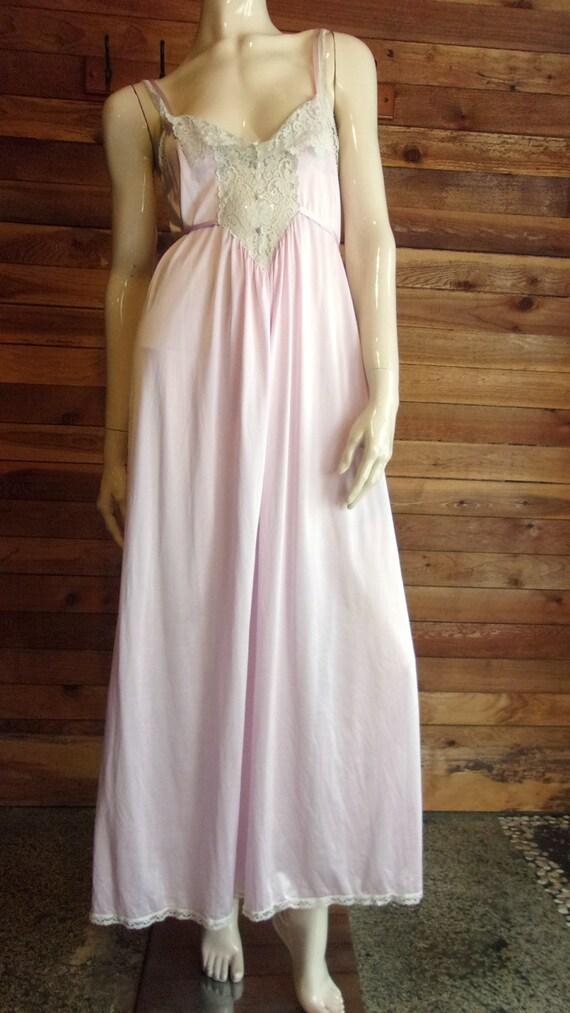Vintage Lingerie 1960s MISS ELAINE Mauve Size Petite Nightgown   Etsy
