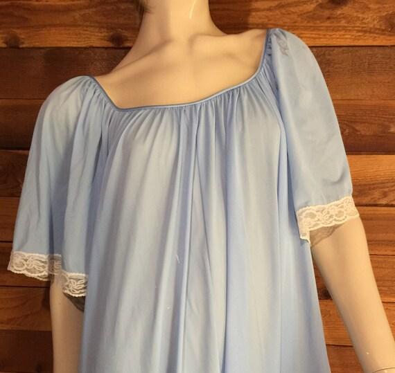 Vintage Lingerie 1970s LUCIE ANN Blue Size Medium… - image 7