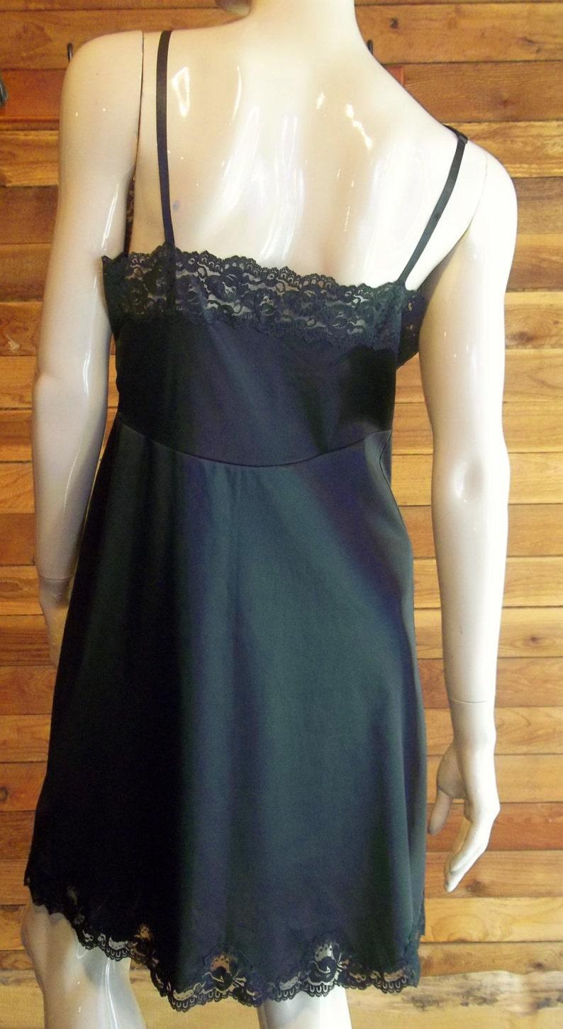 Vintage Lingerie 1960s GAYMODE Size 3614A Black Full Slip