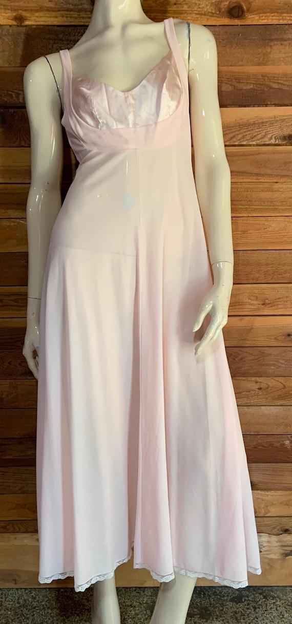 Vintage Lingerie 1960s LUCIE ANN Pink Size Petite… - image 1