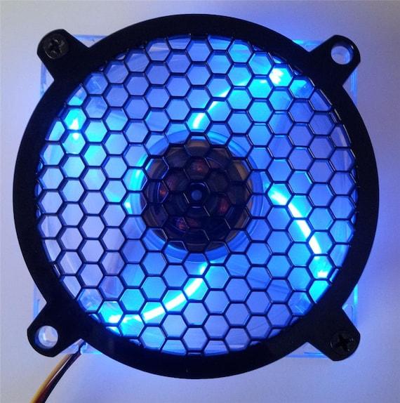 Custom 92mm LION HEAD Computer Fan Grill Gloss Black Acrylic Cooling Cover Mod