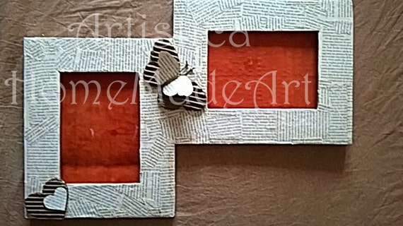 Book Clippings Recycled Cardboard Photo Frames Upcycled Etsy