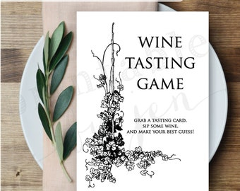 Wine Tasting Game     Editable DIY Printable     Bridal Shower Game, Bachelorette Party Game, Girls Night Out