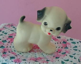 1950s Sun Rubber RUTH NEWTON Puppy Dog Squeak Toy SUPER Adorable