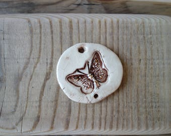 Ceramic decoration butterfly handmade