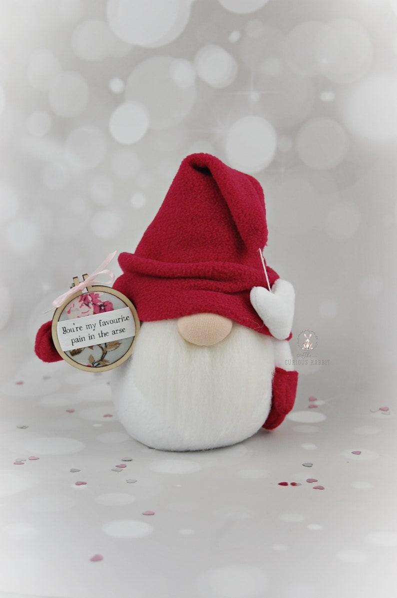 VALENTINE GNOME pick a PHRASE decor cute gnome floral gnome image 0