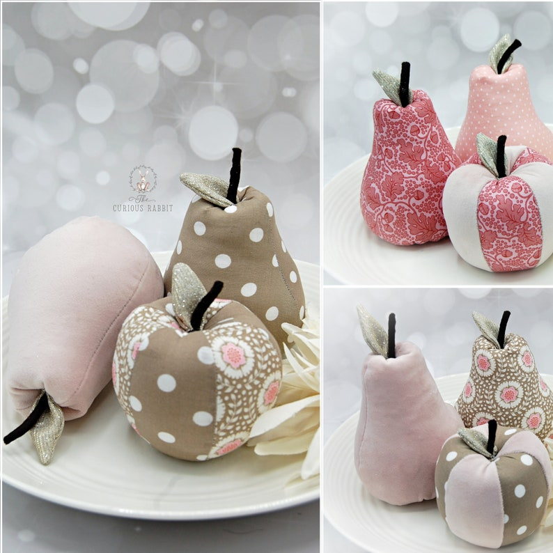 DECORATIVE FRUIT  Pink Apple & Pears home decor home image 0