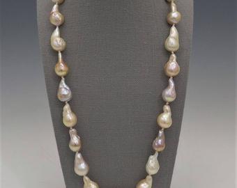 Blush Baroque Teardrop Pearl Necklace
