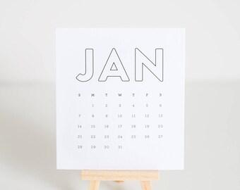 2018 Desk Easel Calendar - Simply Bold
