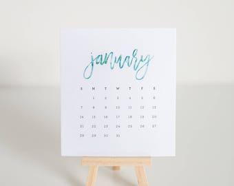 2018 Desk Easel Calendar - Watercolor