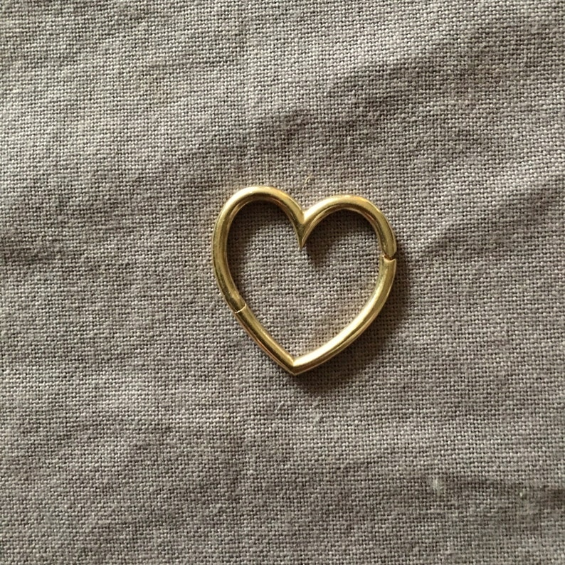 Heart Connector   Gold image 0