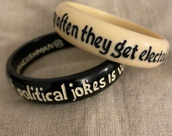 The trouble with political jokes is very often they get elected. Nantucket Bangle