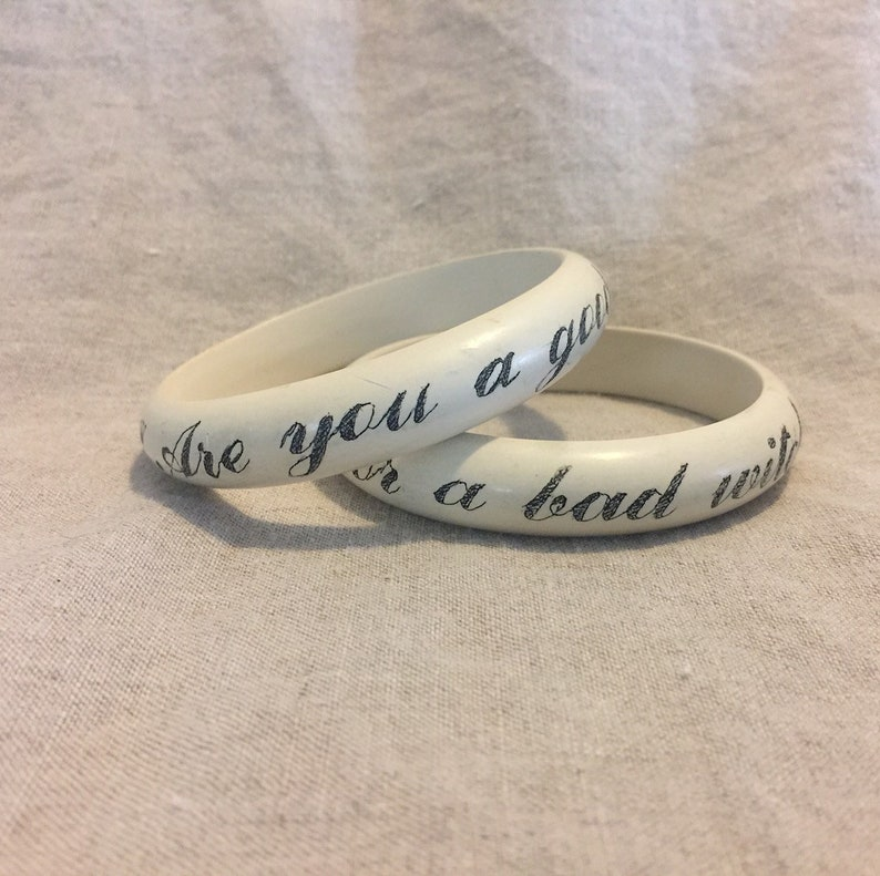 Are you a good witch or a bad witch Nantucket Bangle image 0
