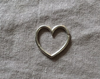 Heart Connector -  Silver