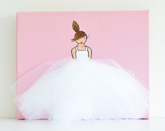 Girl Nursery Decor, Pink Nursery Decor, Ballerina Nursery Decor, Girl Nursery Wall Art, Girl Nursery Art, Ballerina Canvas Art