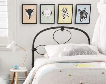 Animal Nursery Prints, Boy Room Art, Elephant Nursery Print, Zebra Nursery Art, Giraffe Nursery Decor, Fox Nursery Print, Set of 4 Prints