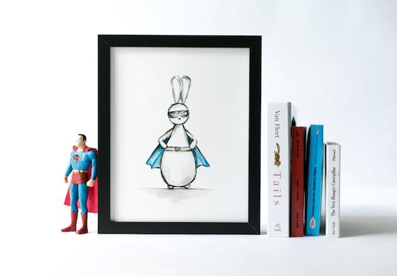 Super Hero Print Boys Wall Art Wall Decor Super Hero Art Home Etsy