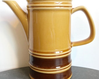 Vintage brown and yellow glazed teapot - 0.7 litres - 75/3