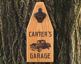 Beer Bottle Opener Wooden Sign Bottle Opener Garage Sign