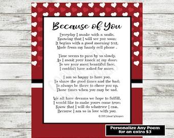 Love Poem Printable Valentine S Day Poem Love Print Etsy